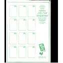 Planche 12 étiquettes - Naturel Blanc