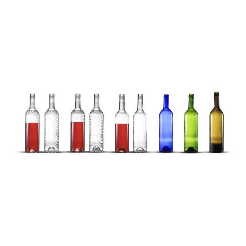Bouteille de vin Domaine 75 cl - Bleue - Lot de 12