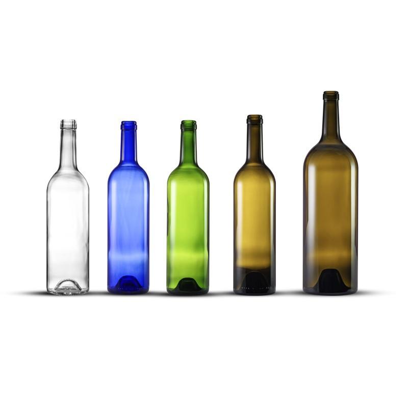 Bouteille de vin Tradition Ecova 75 cl - Verte - Lot de 12