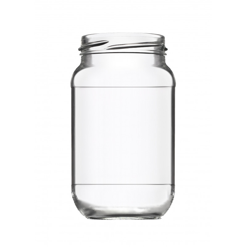 Pot cylindrique 28 cl avec réserve - Lot de 12