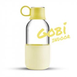 Gourde en verre Gobi Indoor - Jaune Champagne