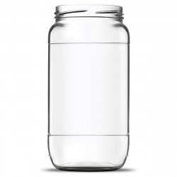Pot cylindrique 100 cl avec réserve - Lot de 12