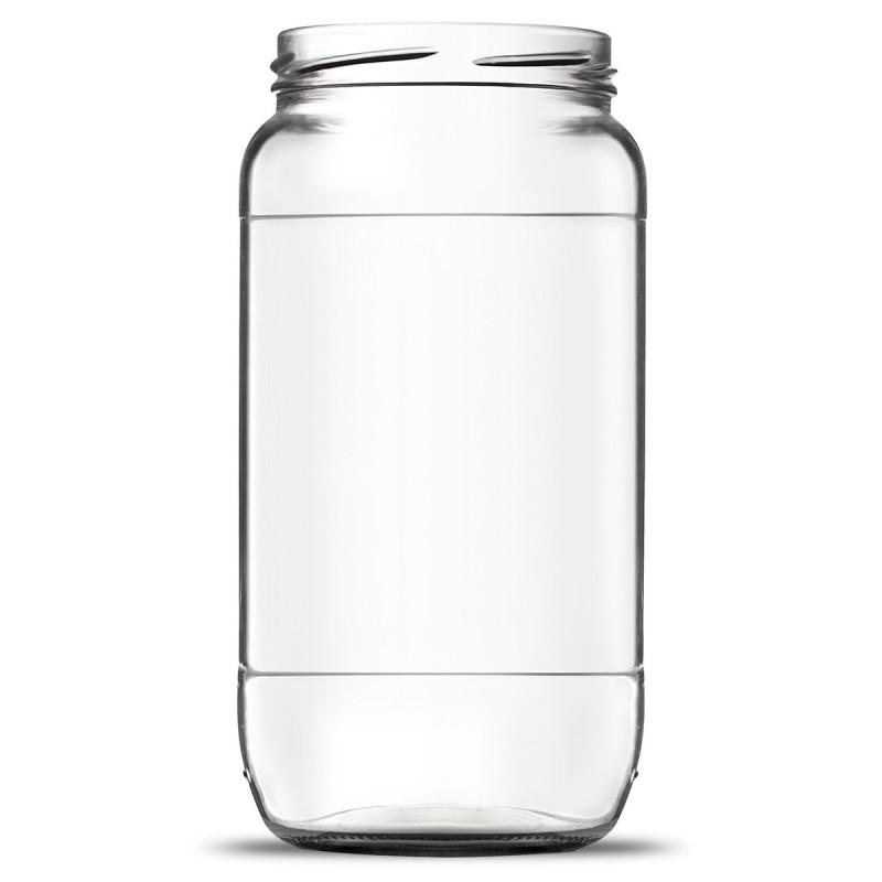 Pot cylindrique 100cl avec réserve - LOT DE 12