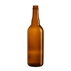 Bouteille de Bière 75 cl - Jaune - Couronne 26 - Lot de 12